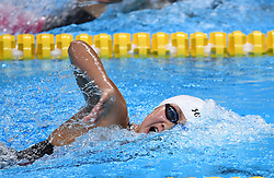 JAKARTA, Aug. 19, 2018  Li Bingjie of China competes during the Women's 1500m Freestyle Final in the 18th Asian Games in Jakarta, Indonesia, Aug. 19, 2018. (Credit Image: © Li Xiang/Xinhua via ZUMA Wire)