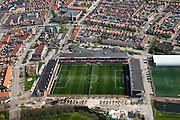 Nederland, Noord-Holland, Waterland, 28-04-2010; Stadion FC Volendam; Kras Stadion aan de Sportlaan.luchtfoto (toeslag), aerial photo (additional fee required).foto/photo Siebe Swart
