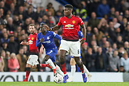 Manchester United Midfielder Paul Pogba during the The FA Cup 5th round match between Chelsea and Manchester United at Stamford Bridge, London, England on 18 February 2019.