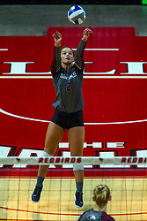BLOOMINGTON, IL - September 28: Abi Fitzpatrick during a college Women's volleyball match between the ISU Redbirds and the Southern Illinois Salukis on September 28 2019 at Illinois State University in Normal, IL. (Photo by Alan Look)