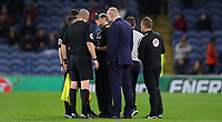 Football - 2017 / 2018 EFL (League) Cup - Third Round: Burnley vs. Leeds United<br /> <br /> Police speak to the officials before the penalty shoot out  at Turf Moor.<br /> <br /> COLORSPORT/LYNNE CAMERON