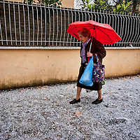 Italy: Sudden hail storm hit Rome