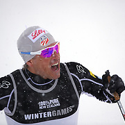 Kris Freeman, USA, during the Cross Country Sprint Competition at Snow Farm, New Zealand during the Winter Games. Wanaka, New Zealand, 14th August 2011. Photo Tim Clayton