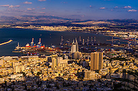 Overview of Haifa, Israel.
