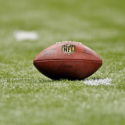 January 7, 2012; New Orleans, LA, USA; A detail of a football of the field during the 2011 NFC wild card playoff game between the New Orleans Saints and Detroit Lions at the Mercedes-Benz Superdome. Mandatory Credit: Derick E. Hingle-US PRESSWIRE