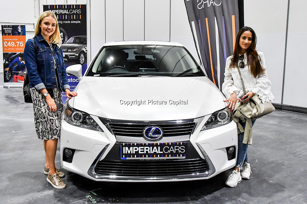 Press day: London Motor & Tech Show opening day on 16 May 2019, at Excel London, UK.