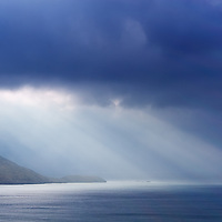 Sun Beam over Ballinskelligs Bay nearby Waterville, County Kerry, Ireland / wv025