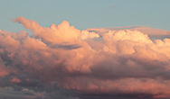 Middletown, New York  - The top of  a cloud bank illuminated by the setting sun on June 25, 2012.