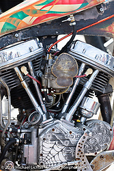 Bad Trip custom Harley-Davidson Panhead at the Chopper Time annual old school chopper show at Willie's Tropical Tattoo in Ormond Beach during Daytona Beach Bike Week, FL. USA. Thursday, March 14, 2019. Photography ©2019 Michael Lichter.