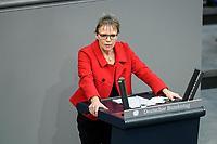 08 DEC 2020, BERLIN/GERMANY:<br /> Anja Hajduk, Haushaltsdebatte, Plenum, Reichstagsgebaeude, Deuscher Bundestag<br /> IMAGE: 20201208-02-102<br /> KEYWORDS: Rede