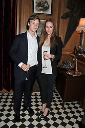 MAX SANGSTER and EVEIE LONGDON at a party to celebrate the launch Mr Fogg's, 15 Bruton Lane, London W1 on 21st May 2013.