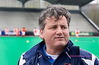 ROTTERDAM - HOCKEY -  Bondscoach Paul van Ass tijdens de oefenwedstrijd tussen de mannen van Nederland en Engeland. FOTO KOEN SUYK