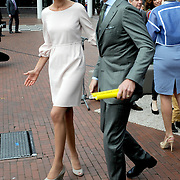 Koningsdag 2014 in Amstelveen, het vieren van de verjaardag van de koning. / Kingsday 2014 in Amstelveen, celebrating the birthday of the King. <br /> <br /> <br /> Op de foto / On the photo: Prince Maurits and Princess Marilene