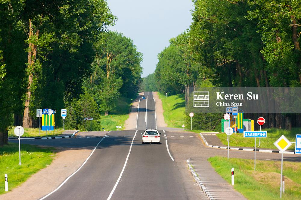 Two lane road,  Nesvizh, Minsk Province, Belarus