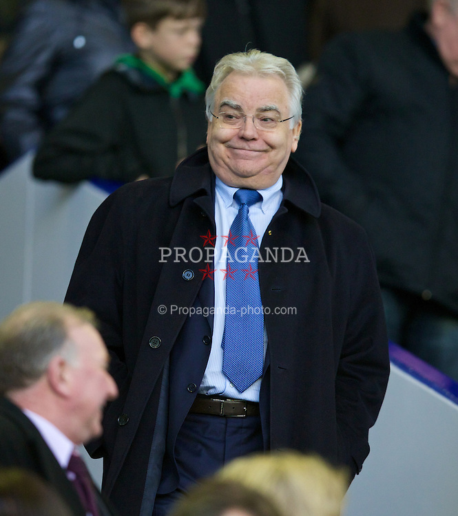 LIVERPOOL, ENGLAND - Saturday, January 4, 2014: Everton's chairman and owner Bill Kenwright before the FA Cup 3rd Round match against Queens Park Rangers at Goodison Park. (Pic by David Rawcliffe/Propaganda)