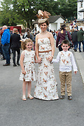 17/08/2017  REPRO FREE:   Sarah Margey with kids Martin and Sarah from Donegal  in for the Best dressed Competition at the Connemara Pony Show in Clifden. Photo:Andrew Downes, xposure
