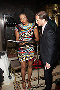 NEW YORK, NEW YORK-JUNE 4: (L-R) Actress/Poet Sara Jones and Peter W. Kunhardt, Executive Director, Gordon Parks Foundation attends the 2019 Gordon Parks Foundation Awards Dinner and Auction Inside celebrating the Arts & Social Justice held at Cipriani 42nd Street on June 4, 2019 in New York City. (Photo by Terrence Jennings/terrencejennings.com)