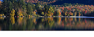 Lake Placid on a beautiful autumn day in the Adirondack Mountains of New York State, USA