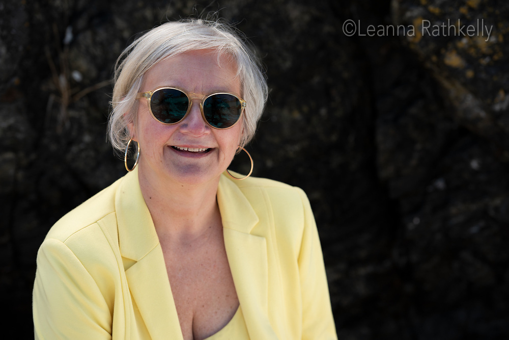 Avril Matthews  of Beattie Tartan Communications Group takes time out for a casual portrait by the ocean in Victoria, BC.