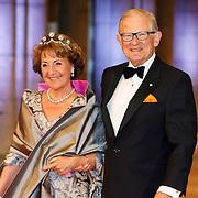 NLD/Amsterdam/20130429- Afscheidsdiner Konining Beatrix Rijksmuseum, Princes Margriet and husband Mr. Pieter van Vollenhoven