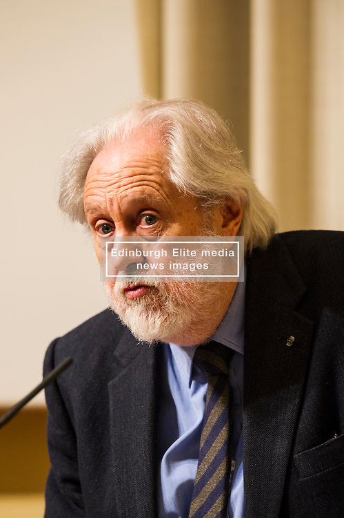 Pictured: Lord David Puttnam<br /> <br /> Scottish event to inform the 'Future for Public Service Television Inquiry' chaired by Lord Puttnam. Speakers are Angela Haggerty, Editor, Common Space; David Fleetwood, Policy Official, Scottish Government; Stuart Cosgrove, journalist, broadcaster and former Head of Programmes (Nations and Regions), Channel 4; Professor Neil Blain, Professor Emeritus of Communications at the University of Stirling; John McCormick FRSE, Chair of the Scottish Screen Leadership Group, and former Controller of BBC Scotland <br /> Ger Harley | EEm 13 April 2016