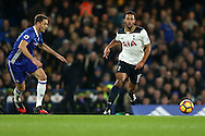 Mousa Dembele of Tottenham Hotspur breaks away from   of Chelsea. Premier league match, Chelsea v Tottenham Hotspur at Stamford Bridge in London on Saturday 26th November 2016.<br /> pic by John Patrick Fletcher, Andrew Orchard sports photography.
