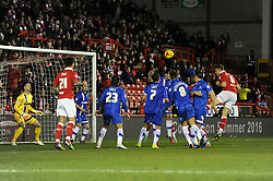 Bristol City's Matt Smith scores a goal to make it 1-0 - Photo mandatory by-line: Dougie Allward/JMP - Mobile: 07966 386802 - 29/01/2015 - SPORT - Football - Bristol - Ashton Gate - Bristol City v Gillingham - Johnstone Paint Trophy