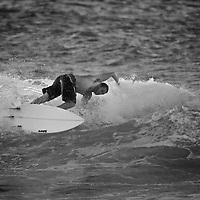 In the surf at Ho'okipa, Maui.