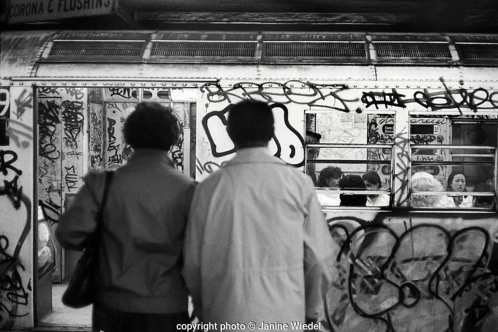 People on New York City subway