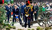 ARNHEM - Koning Willem-Alexander en koningin Maxima tijdens hun bezoek aan Arnhem. Het koninklijk paar bezoekt, in het teken van de 'royal tour', de aankomende tijd de 12 provincies. ANP HANDOUT ROYAL IMAGES KOEN VAN WEEL **NO ARCHIVES NO SALES**