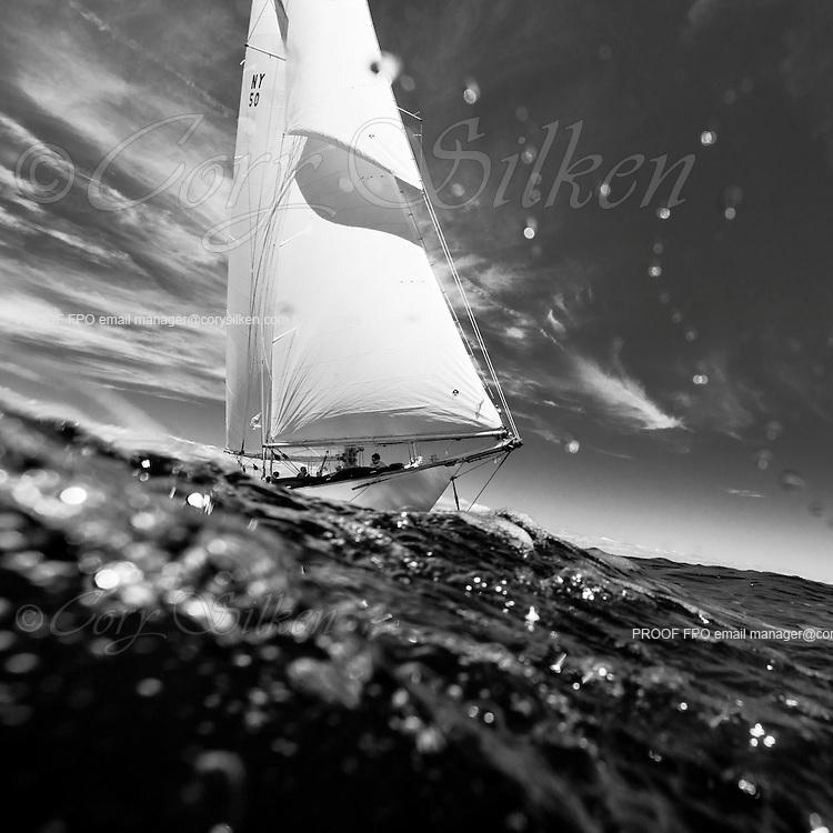 Marilee sailing in the Marblehead Corinthian Classic Yacht Regatta, race one.