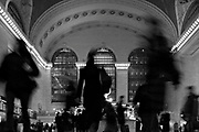 The interior of Grand Central Station in New York during rush hour, Tuesday, January 31, 2006.