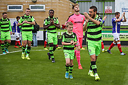Forest Green Rovers Liam Noble(8) leads the team out during the EFL Sky Bet League 2 match between Forest Green Rovers and Exeter City at the New Lawn, Forest Green, United Kingdom on 9 September 2017. Photo by Shane Healey.