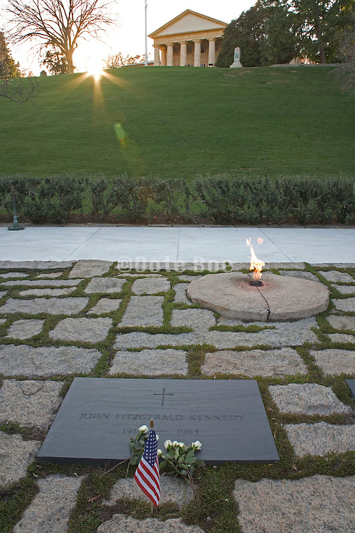 JFK grave at Arlington National cemetery in Washington DC