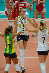 26-08-2010 VOLLEYBAL: WGP FINAL POLAND - BRAZIL: BEILUN NINGBO<br /> Brazil beat Poland 3-1 / Thaisa Menezes<br /> ©2010-WWW.FOTOHOOGENDOORN.NL