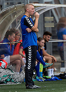 Andy Thorpe (Coach) (Durham Womens FC) watches from the side lines during the FA Women's Super League match between Durham Women FC and Everton Ladies at New Ferens Park, Belmont, United Kingdom on 30 August 2015. Photo by George Ledger.