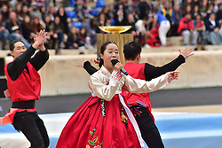 October 31, 2017 - Athens, Attiki, Greece - During the Republic of Korea's Cultural event. The Handover Ceremony of the Olympic Flame for Winter Games PYEONGCHANG 2018, took place today in Panathenaic Stadium in the presence of the President of Hellenic Republic Prokopis Pavlopoulos. (Credit Image: © Dimitrios Karvountzis/Pacific Press via ZUMA Wire)