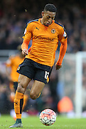 Rajiv van La Parra of Wolverhampton Wanderers in action. The Emirates FA cup, 3rd round match, West Ham Utd v Wolverhampton Wanderers at the Boleyn Ground, Upton Park  in London on Saturday 9th January 2016.<br /> pic by John Patrick Fletcher, Andrew Orchard sports photography.