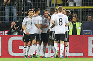 Lukas Podolski of Germany celebrates his goal 1-0 during the International Friendly match between Germany and England at Signal Iduna Park, Dortmund, Germany on 22 March 2017. Photo by Phil Duncan.