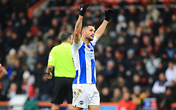 Brighton & Hove Albion's Florin Andone celebrates scoring his side's third goal of the game during the Emirates FA Cup, third round match at the Vitality Stadium, Bournemouth.