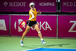 PORTOROZ, SLOVENIA - SEPTEMBER 18: Tamara Zidansek of Slovenia compete during the Semifinals of WTA 250 Zavarovalnica Sava Portoroz at SRC Marina, on September 18, 2021 in Portoroz / Portorose, Slovenia. Photo by Matic Klansek Velej / Sportida