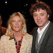 NLD/Hilversum/20061201 - Opening Nederlands Instituut voor Beeld en Geluid, Frits Sissing en partner Willemijn
