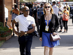 March 16, 2019 - Melbourne, Australia - Motorsports: FIA Formula One World Championship 2019, Grand Prix of Australia, ..Anthony Hamilton, father of #44 Lewis Hamilton (GBR, Mercedes AMG Petronas Motorsport), with Linda Hamilton  (Credit Image: © Hoch Zwei via ZUMA Wire)