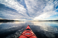 The end of a day, kayaking on the bay. A zen moment.