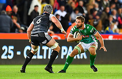 Braam Steyn of Benetton Treviso in action during todays match<br /> <br /> Photographer Craig Thomas/Replay Images<br /> <br /> Guinness PRO14 Round 4 - Ospreys v Benetton Treviso - Saturday 22nd September 2018 - Liberty Stadium - Swansea<br /> <br /> World Copyright © Replay Images . All rights reserved. info@replayimages.co.uk - http://replayimages.co.uk