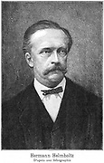 Hermann Ludwig Ferdinand von Helmholtz (1821-1894). German physicist and physiologist. Opthalmascope