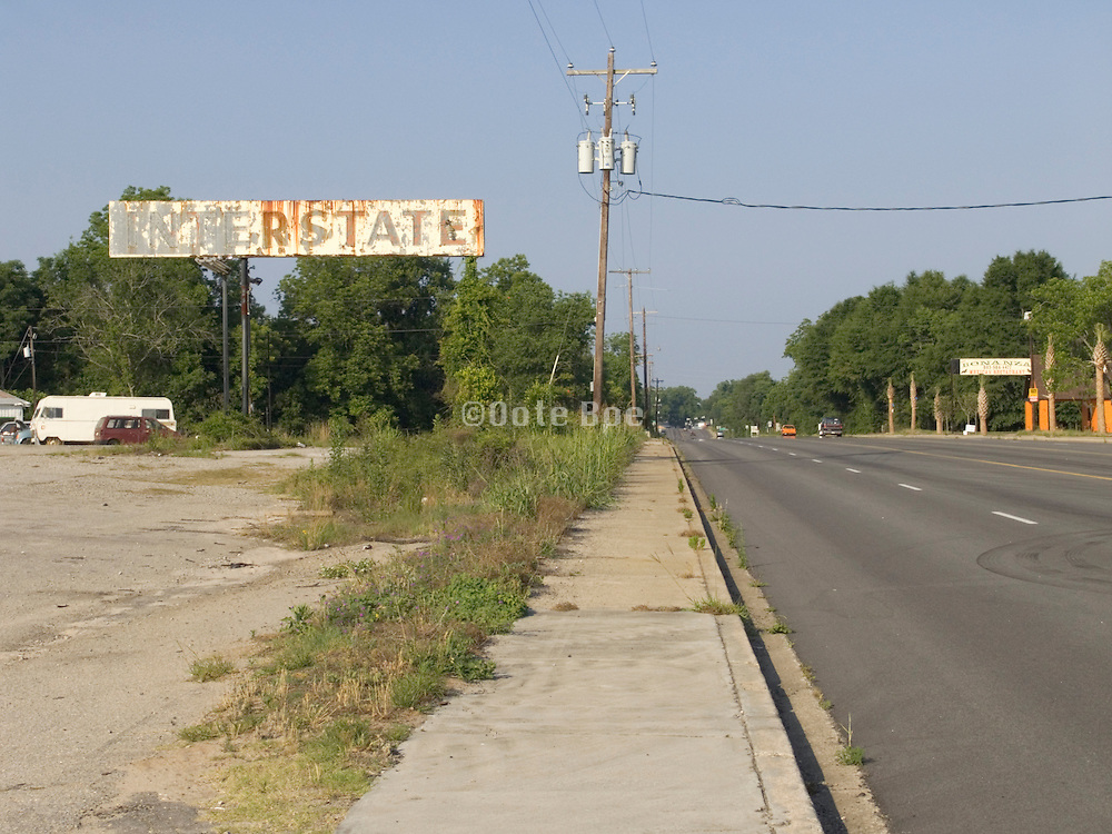 abandoned gasoline station sign route 301 Georgia border South Carolina USA