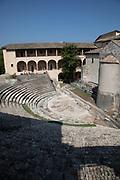 1st century Roman amphitheatre in Spoleto, Umbria, Italy.