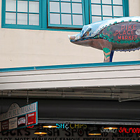 USA, Washington, Seattle. Landmark pig of Pike Place Market.