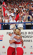St Catherines, CANADA,  Women's Pair, CAN W2-  .Stroke, Theresa LUKE  and  Bow, Emma ROBINSON competing at the 1999 World Rowing Championships - Martindale Pond, Ontario. 08.1999..[Mandatory Credit; Peter Spurrier/Intersport-images]  .. 1999 FISA. World Rowing Championships, St Catherines, CANADA